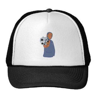 Man pistol one pistol trucker hat