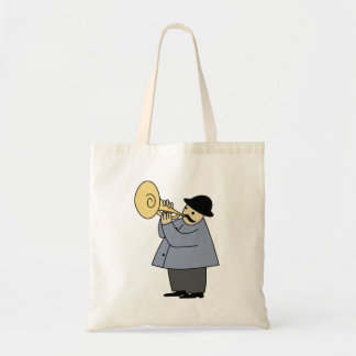 Man Playing a Musical Instrument Tote Bag