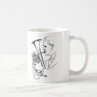 Man Playing Euphonium Musical Instrument Coffee Mug