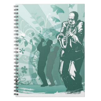 Man Playing The Trumpet Notebook