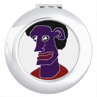 Man Portrait Caricature Compact Mirrors