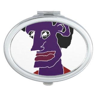 Man Portrait Caricature Mirrors For Makeup