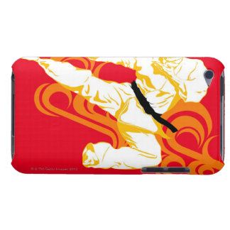 Man practicing martial arts, performing mid air iPod Case-Mate case