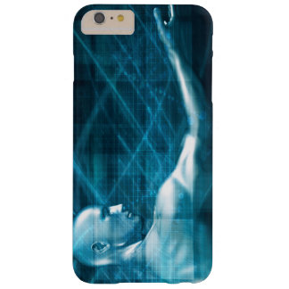 Man Presenting a Concept as a Template Background Barely There iPhone 6 Plus Case