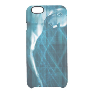 Man Presenting a Concept as a Template Background Clear iPhone 6/6S Case