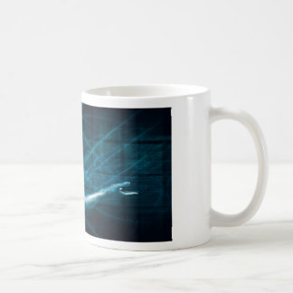 Man Presenting a Concept as a Template Background Coffee Mug