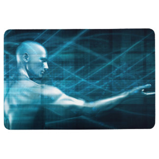 Man Presenting a Concept as a Template Background Floor Mat