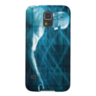 Man Presenting a Concept as a Template Background Galaxy S5 Case