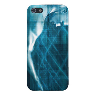 Man Presenting a Concept as a Template Background iPhone 5/5S Cover