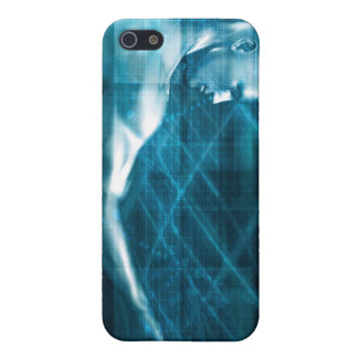 Man Presenting a Concept as a Template Background iPhone 5 Case