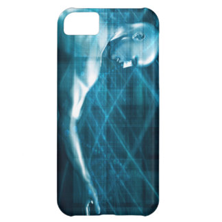 Man Presenting a Concept as a Template Background iPhone 5C Cover