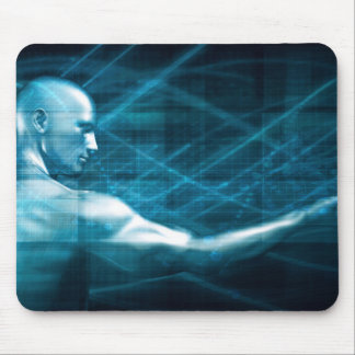 Man Presenting a Concept as a Template Background Mouse Pad