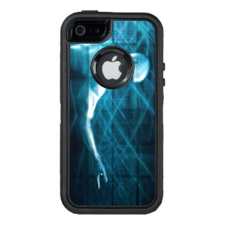 Man Presenting a Concept as a Template Background OtterBox Defender iPhone Case