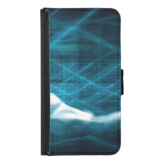 Man Presenting a Concept as a Template Background Samsung Galaxy S5 Wallet Case