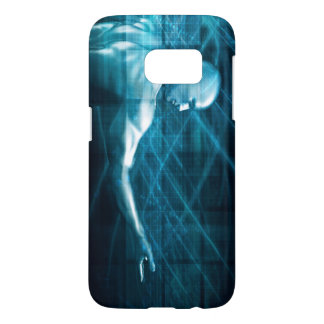 Man Presenting a Concept as a Template Background Samsung Galaxy S7 Case
