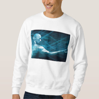 Man Presenting a Concept as a Template Background Sweatshirt