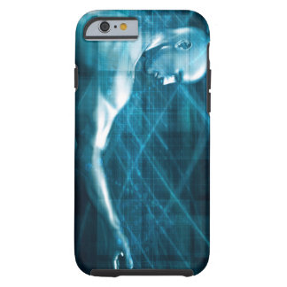 Man Presenting a Concept as a Template Background Tough iPhone 6 Case