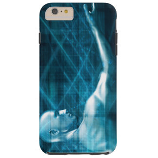 Man Presenting a Concept as a Template Background Tough iPhone 6 Plus Case