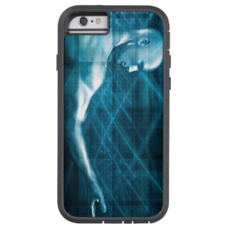 Man Presenting a Concept as a Template Background Tough Xtreme iPhone 6 Case