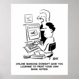 Man prints own banknotes online cartoon