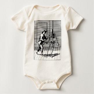 Man Proposing to a Skeleton Baby Bodysuit