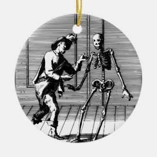 Man Proposing to a Skeleton Ceramic Ornament