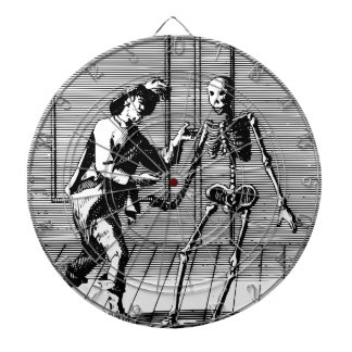 Man Proposing to a Skeleton Dart Boards