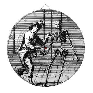Man Proposing to a Skeleton Dartboard