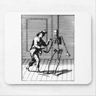 Man Proposing to a Skeleton Mouse Pad