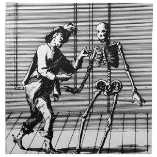 Man Proposing to a Skeleton Napkin