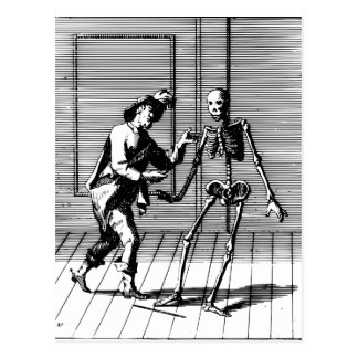 Man Proposing to a Skeleton Postcard