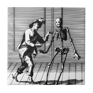 Man Proposing to a Skeleton Tile