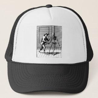 Man Proposing to a Skeleton Trucker Hat