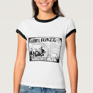 Man Raze Grunge Lyrics T-Shirt B/W