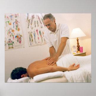 Man receiving massage poster