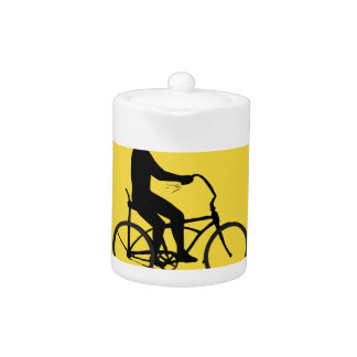 Man Riding Easy Rider Bicycle Silhouette Oval Retr