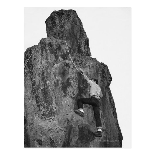 Man Rock Climbing Postcard
