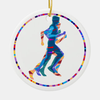 Man Running Ceramic Ornament