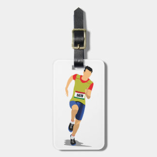 Man Running Luggage Tags
