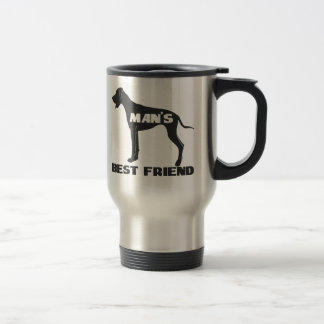 Man's Best Friend fun dog silhouette Travel Mug