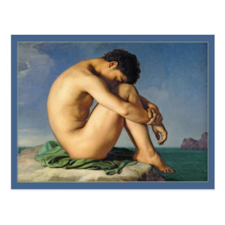 Man Seated by the Sea by Flandrin Postcard