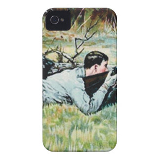 man shoot over a log Case-Mate iPhone 4 cases