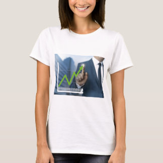 Man showing stock price touchscreen concept T-Shirt