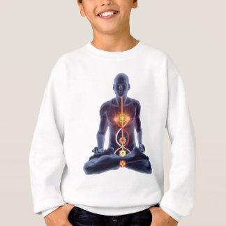 Man silhouette in enlightened yoga meditation pose sweatshirt