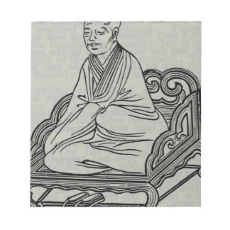 Man sitting in Meditation Pose Notepad