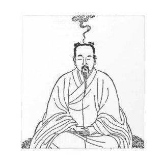 Man Sitting in Meditation Pose Notepad