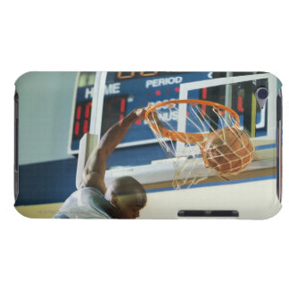 Man slam dunking basketball barely there iPod cases