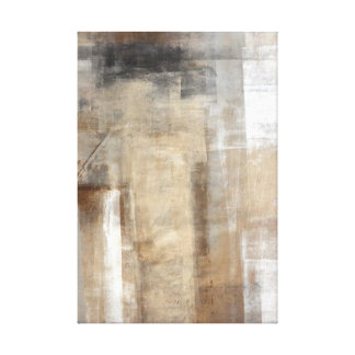 'Man Style' Beige and Brown Abstract Art Canvas Print