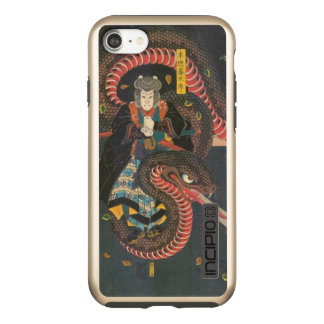 Man Summons Snake- Japanese Woodblock Print Incipio DualPro Shine iPhone 7 Case