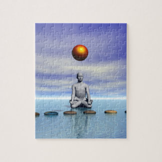 man sun and steps planets jigsaw puzzle
